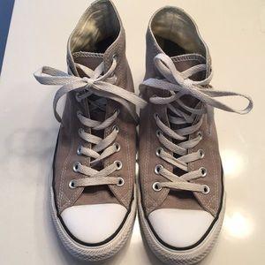Converse Grey high top sneakers